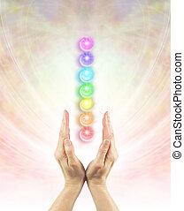 chakra, エネルギー, チャネリングする, 治癒