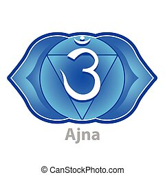 Chakra ajna isolated on white vector