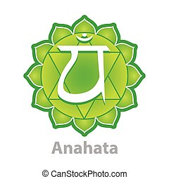 Chakra anahata isolated on white vector
