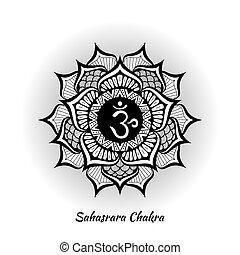 chakra, conception, sahasrara