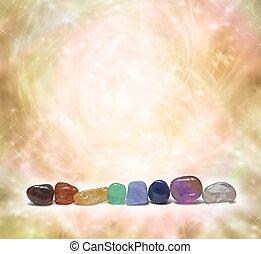 Chakra Crystals emitting energy