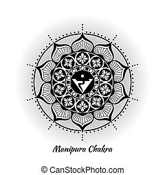chakra, diseño, manipura
