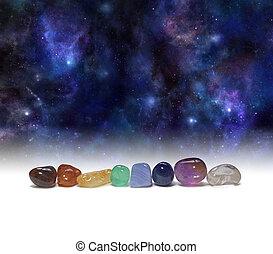 chakra, kamienie, kosmiczny, gojenie