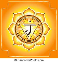 Chakra Manipura.Decorative design element esoteric...