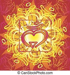 Chakra Muladhara icon, ayurvedic symbol, flower pattern. 21...