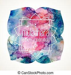 chakra, quadro, vetorial, muladhara