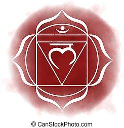 chakra, -, raiz, primeiro, muladhara.