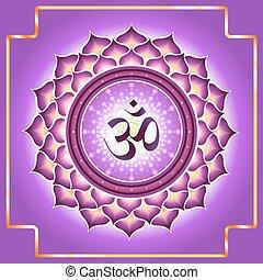 Chakra Sahasrara.Decorative design element esoteric...