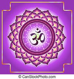 Chakra Sahasrara. Decorative design element esoteric...