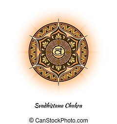 chakra, svadhistana, desenho