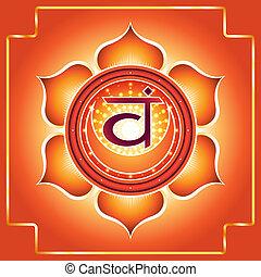 Chakra Svadhisthana. Decorative design element esoteric...