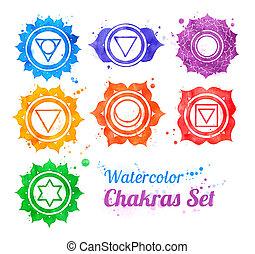 chakra, symbols.