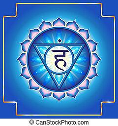 Chakra Vishuddha. Decorative design element esoteric ...