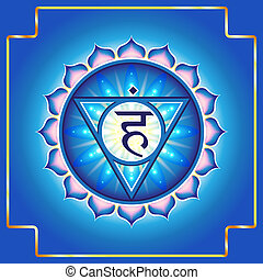 Chakra Vishuddha.Decorative design element esoteric...
