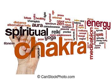 Chakra word cloud