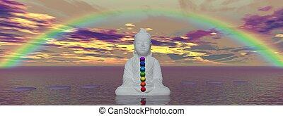 chakras and buddha - rainbow and chakras