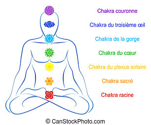 chakras, description, francais, homme