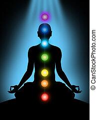 chakras, meditatie