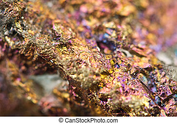 Chalcopyrite, It has the chemical formula (CuFeS2). Copper ...