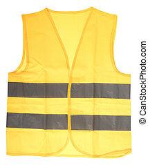 chaleco, seguridad, amarillo