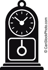 Chalet pendulum clock icon. Simple illustration of chalet pendulum clock vector icon for web design isolated on white background
