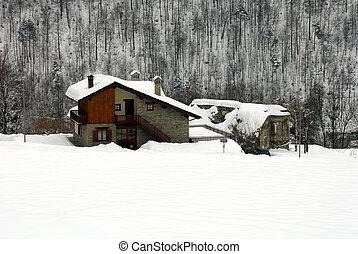 chalets, italia, alpino