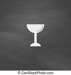 chalice computer symbol - chalice Simple vector button. ...
