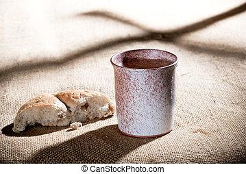 chalice, pão