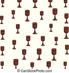 Chalice pattern background vector illustration graphic...