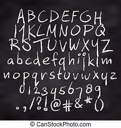 Chalk Alphabet