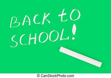 Chalk and Back to school on blackboard