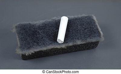Chalk and Eraser - Photo of Chalk and Eraser