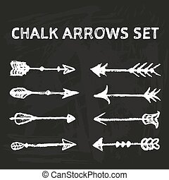 Chalk arrows set.