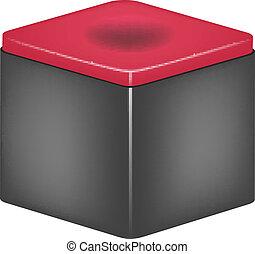 Chalk block for billiard cue