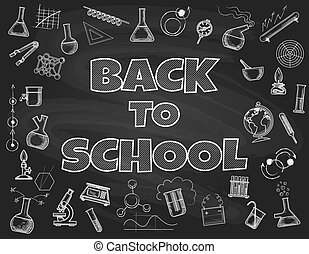 Chalk board back to school backdrop