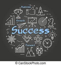 Chalk board concept - Success