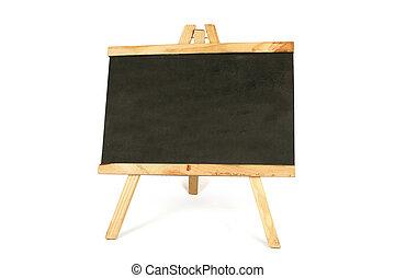 Chalk board over white