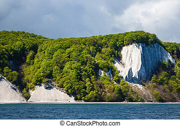 Chalk cliff on the island Ruegen in Germany