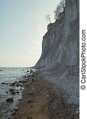 chalk cliff rocks of Rugen isle at National park Jasmund (Mecklenburg-Vorpommern, Germany)
