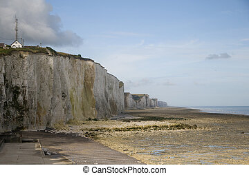 chalk cliffs at the coast from Normandy