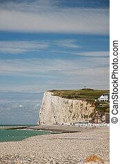 Chalk cliffs at the Normandy coast