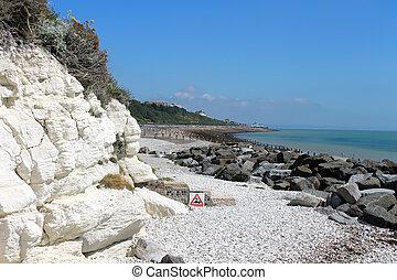 Chalk cliffs, England, United Kingdom.