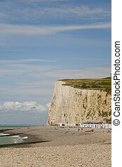 Chalk cliffs in Normandy - Chalk cliffs at Les Mers in ...