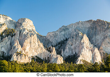 Chalk cliffs of Mt Princeton Colorado