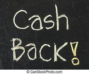 Chalk drawing - Cash back