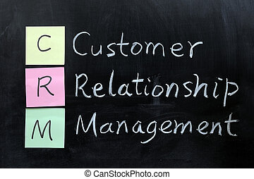 CRM, Customer Relationship Management - Chalk drawing - CRM,...