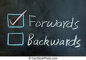 Forwards or backwards - Chalk drawing - Forwards or...