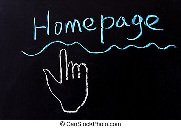 Homepage - Chalk drawing - Homepage