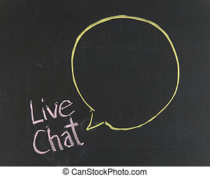 Chalk drawing - Live chat