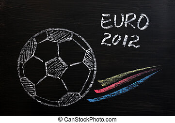 Chalk drawing of EURO 2012